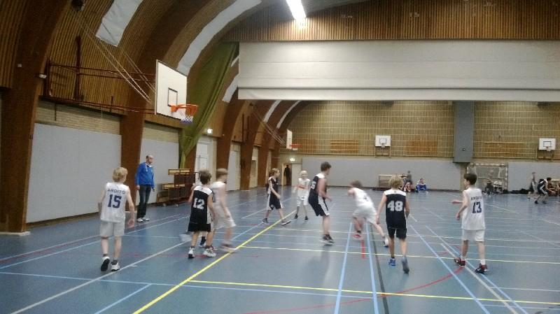 Basketbalwedstrijd kinderen