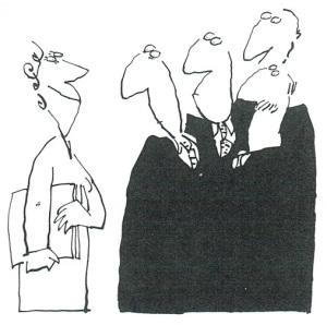 Vrouw in Mannenwereld - cartoon Len Munnik