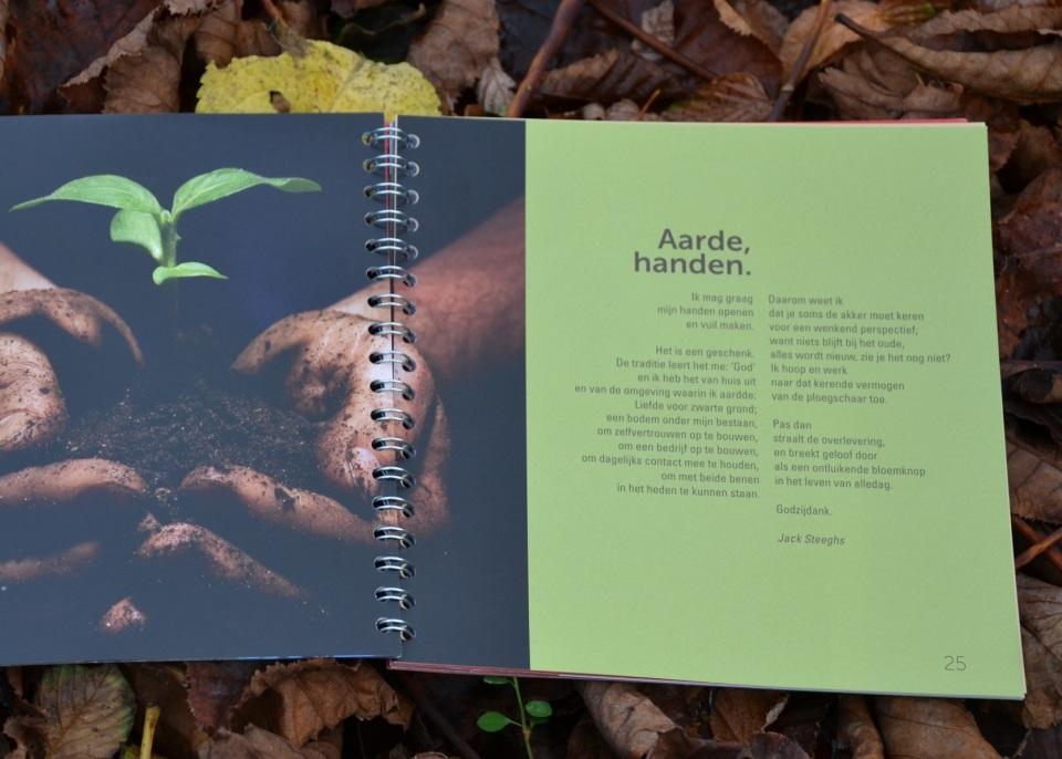 2015 Aarde, Handen - gedicht in Medemens4 SITE, Kerkinactie november