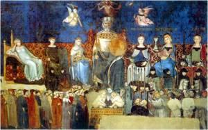 Goed Bestuur Samenleving - fresco Siena, Ambrogio Lorenzetti 14e eeuw