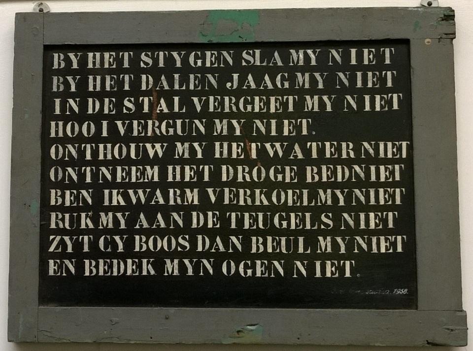 Tien geboden Paard, van Gend & Loos - Openluchtmuseum Arnhem