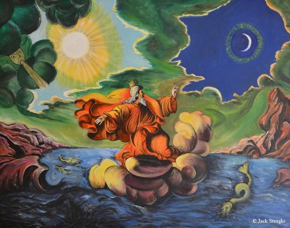 god-schepper-van-hemel-en-aarde-schilderij-louis-steeghs-2002